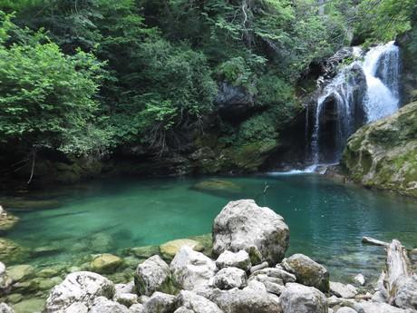 a pool below Vintgar gorge