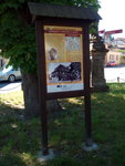 an information board on the Machova trail