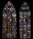 stained glass windows, cathedral