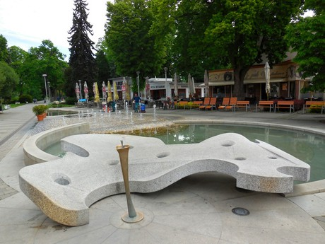 square with a fountain