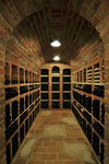Valtice underground stacked with wine