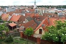 еврейский квартал и Городская башня на заднем плане