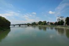 Piešťany - pohľad z Kolonádového mostu