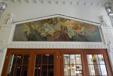 Piešťany - hotel Thermia Palace (olejomaľba od Alfonsa Muchu)