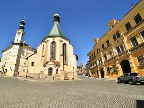 Banská Štiavnica - Town Hall and St Catherine church