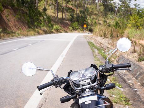 na motorce Vietnamem