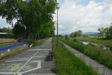 Лазеньский остров (тротуар, велотрасса)