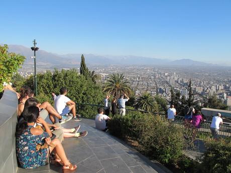 výhled z kopce Cerro San Cristóbal