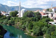 вид со Старого моста - Мечеть Коски Мехмед-паши