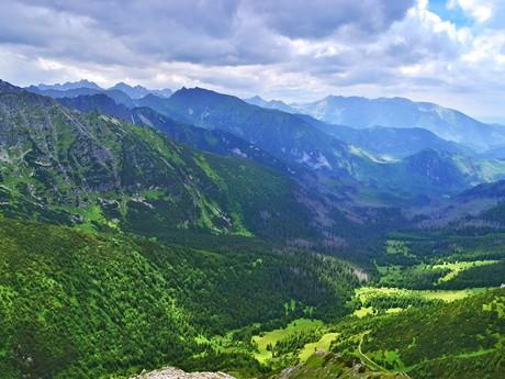 pohľad do doliny Zadné Meďodoly