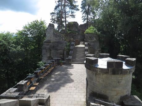 terasa na hradě Valdštejn