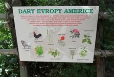 Zoologická záhrada v Zlíne - informačná tabuľa