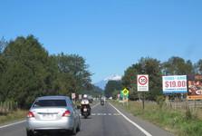 cestou k mestu Pucón a sopka Villarica