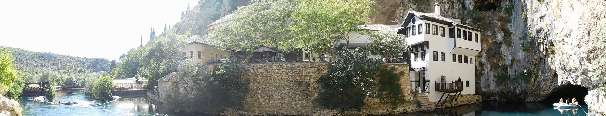 Blagaj – panorama, dervish cloister and Bruna river spring