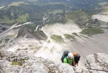 zajištěná cesta na Dachteinu