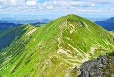 pohled z Ostrého Roháče na Volovec (2 063 m. n. m.)