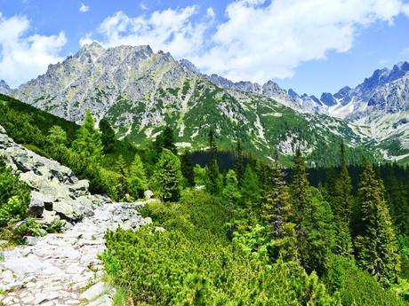Mengusovská dolina z červené turistické stezky
