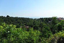 Litochoro - výhľad na Egejské more