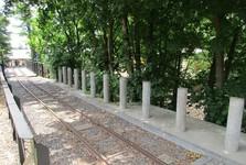 трасса шахтерского поезда возле Шевчинской шахты