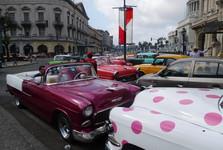 typická auta na Kubě