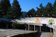 the bobsleigh track