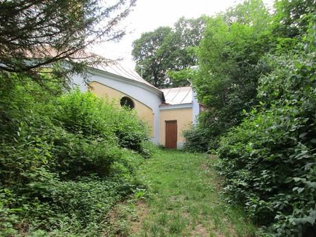 vstup do Svatohorských schodů na Svaté Hoře