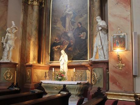 chrám sv. Markéty – detail interiéru
