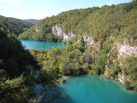 kaskáda jezer Gavanovac a Milanovac