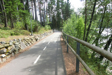 in-line stezka má hladký asfalt
