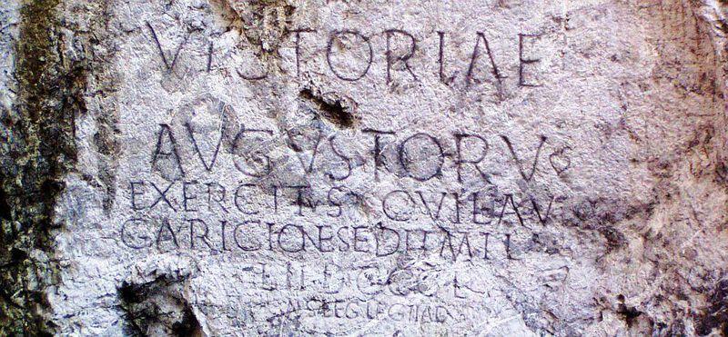 Nápis z Trenčínské skály